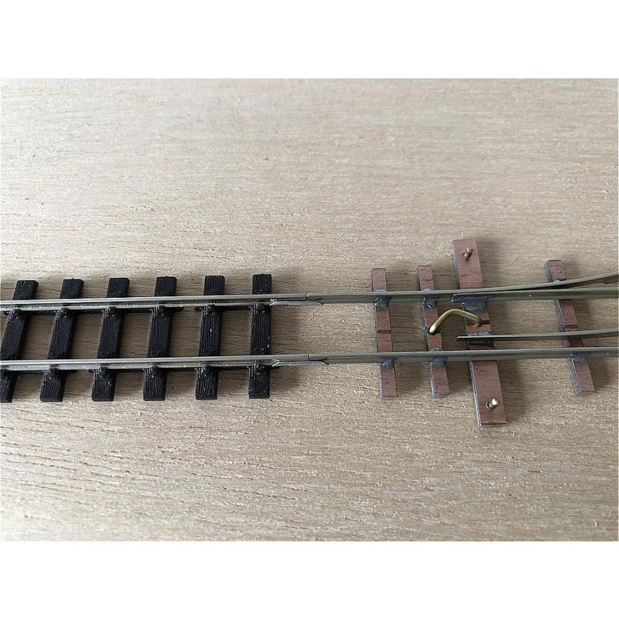 【PECO互換】HOナロー(9mm) オリジナルポイントレール(左) R100mm コード80 エレクトロフログ(篠原模型方式)【極小半径】|narrow-gauge-shop|08
