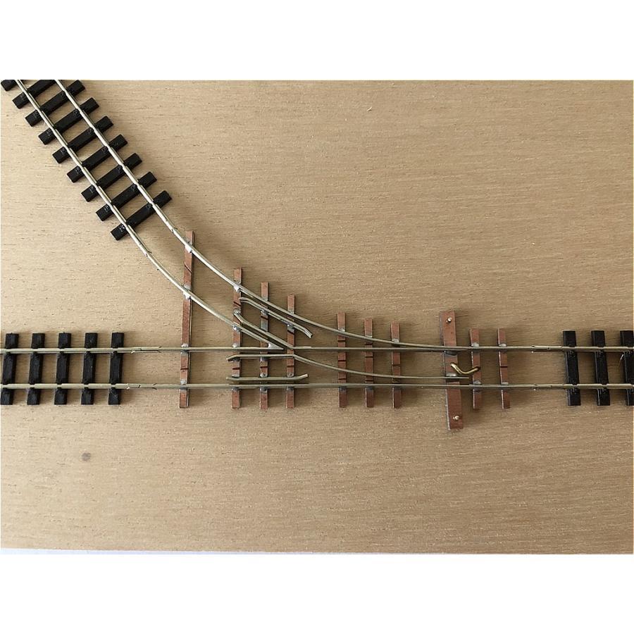 【PECO互換】HOナロー(9mm) オリジナルポイントレール(右) R100mm コード80 エレクトロフログ(篠原模型方式)【極小半径】|narrow-gauge-shop|07