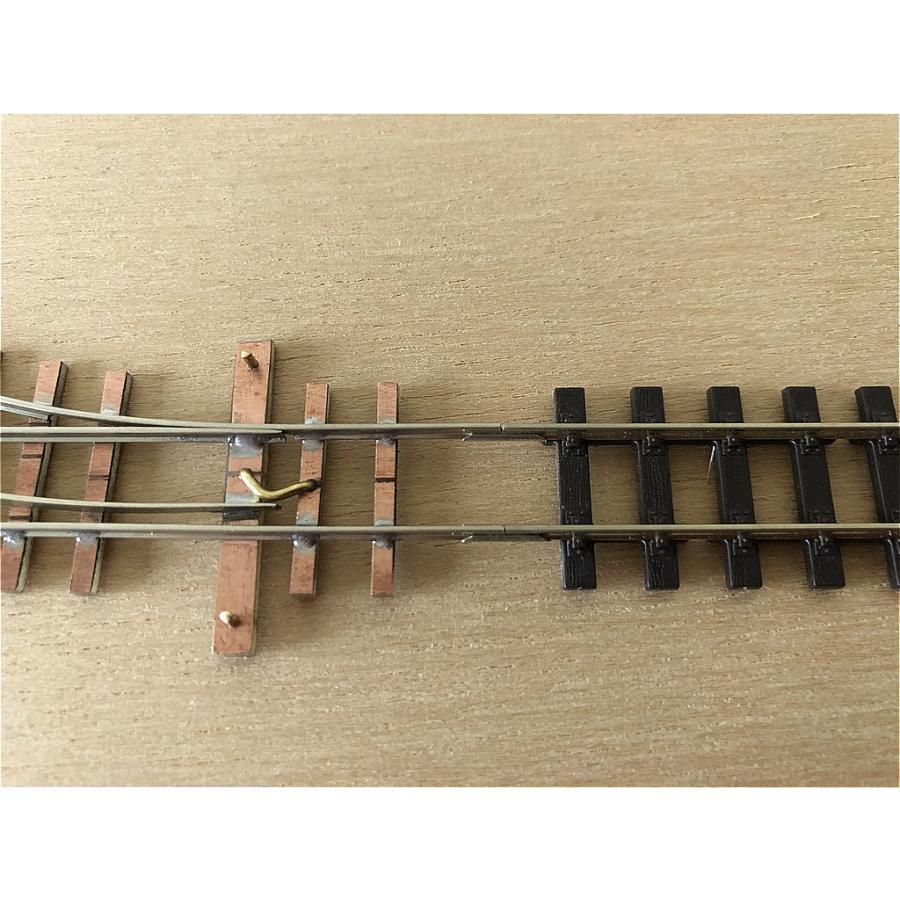 【PECO互換】HOナロー(9mm) オリジナルポイントレール(右) R100mm コード80 エレクトロフログ(篠原模型方式)【極小半径】|narrow-gauge-shop|08