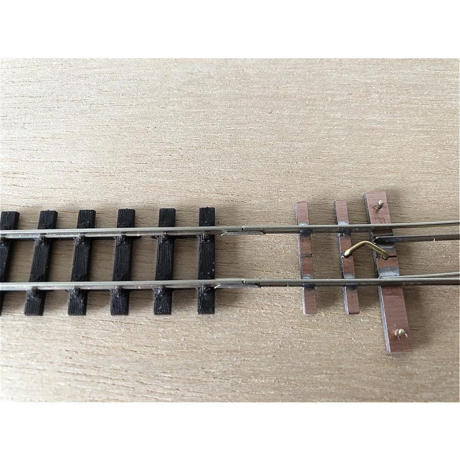 【PECO互換】HOナロー(9mm) オリジナルポイントレール(左) R140mm コード80 エレクトロフログ(篠原模型方式)【極小半径】 narrow-gauge-shop 08