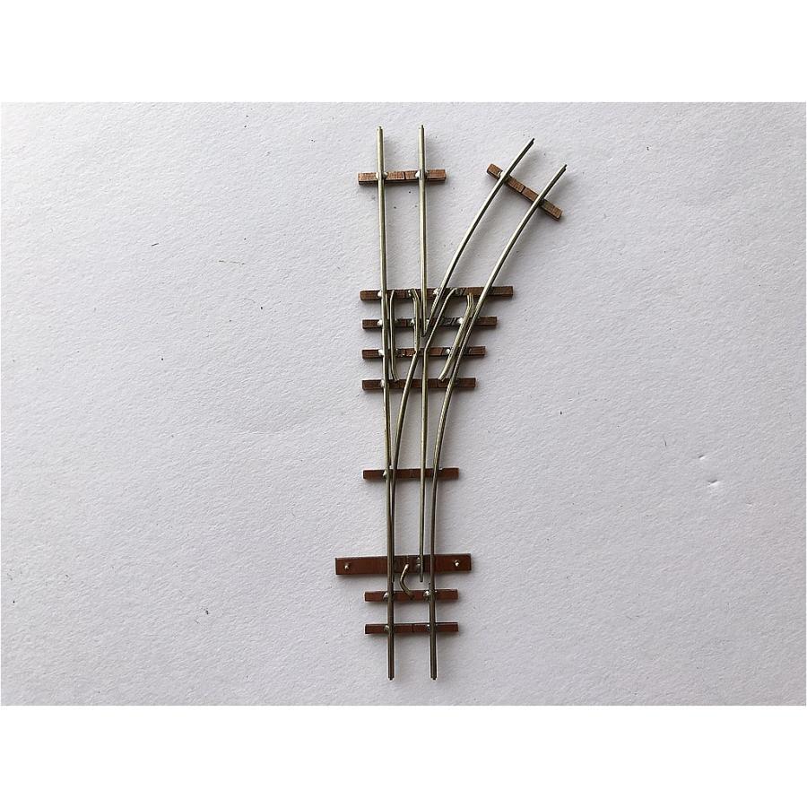 【PECO互換】HOナロー(9mm) オリジナルポイントレール(右) R140mm コード80 エレクトロフログ(篠原模型方式)【極小半径】|narrow-gauge-shop|02