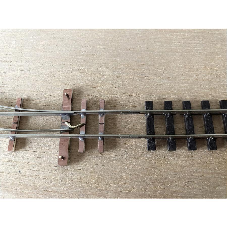 【PECO互換】HOナロー(9mm) オリジナルポイントレール(右) R140mm コード80 エレクトロフログ(篠原模型方式)【極小半径】|narrow-gauge-shop|08