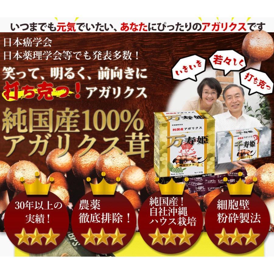ヒメマツタケ アガリクス 多糖体 顆粒 万寿姫 3g×30包 サプリメント 健康元気|narugen|02