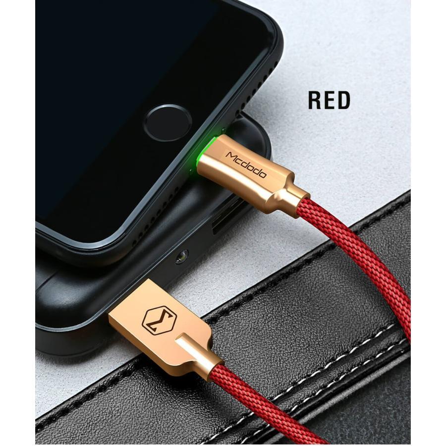 ライトニングケーブル 光る lightning iphone ながら充電防止 充電ケーブル 1.2m Mcdodo日本 一年保障 LED 過充電防止機能|native-fish-dreams|14