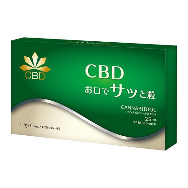 【国産CBD】『口で溶ける CBD 40粒』1000mg(1箱中) 錠剤タイプ 検査済 naturalrainbow
