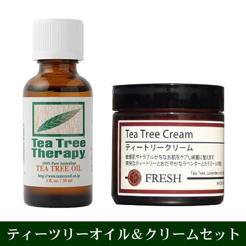 ティートリークリームと精油ティーツリーオイル30mlのセット tea tree cream|natures