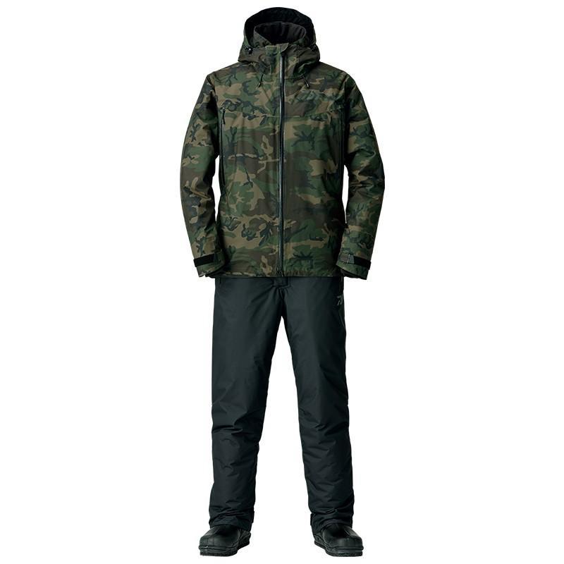 釣り用防寒レインウェア ダイワ DW-3108 レインマックス ウィンタースーツ XL グリーンカモ