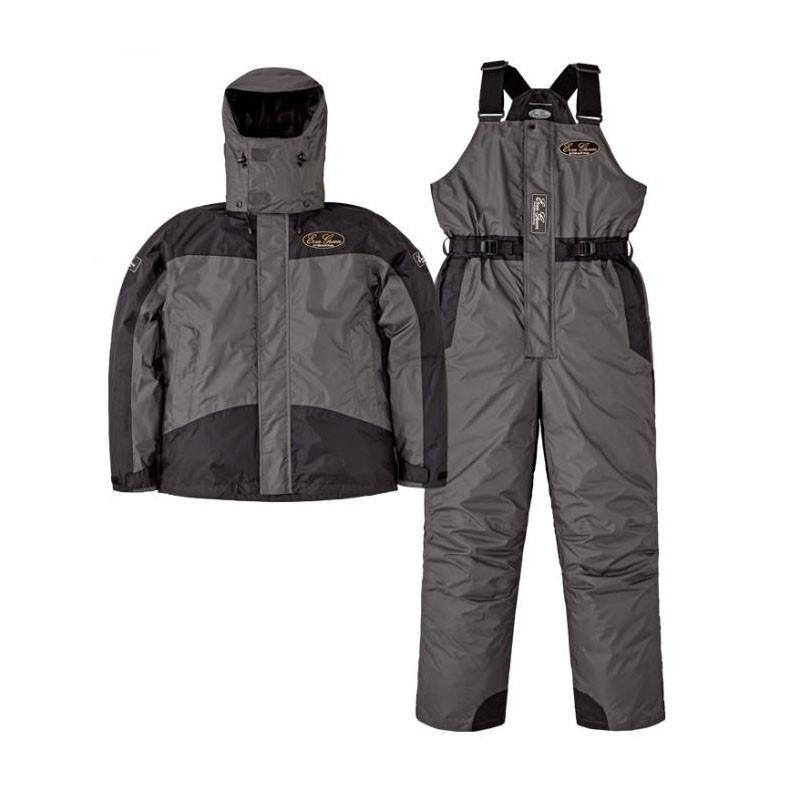 釣り用防寒レインウェア エバーグリーン EGホットスーツ2 EGHS-02 LL ディムグレー×ブラック