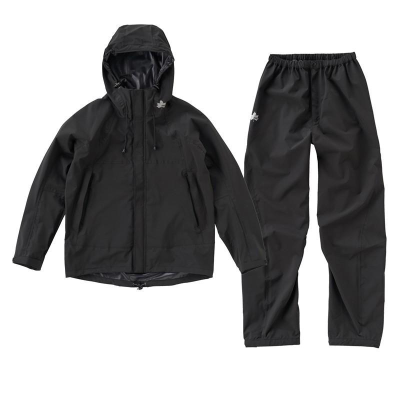 ロゴス MEN'S マルチストレッチ レインスーツ XL 71(ブラック)