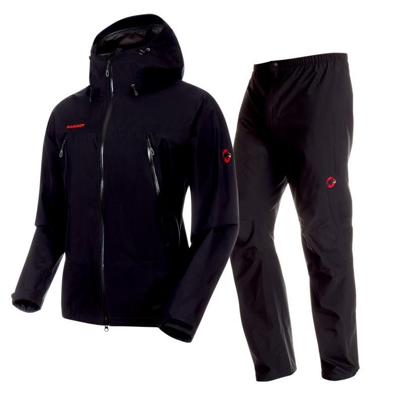 世界的に有名な マムート CLIMATE Rain Suit AF Men's M 0052(black×black), パーツランドBANZAI 35f8ff72