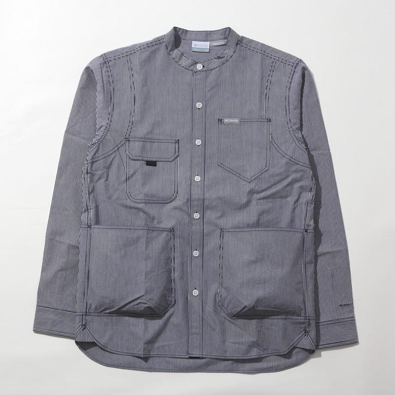 アウトドアシャツ コロンビア HEWSON PARK LONG SLEEVE S(ヒューソン パーク ロング スリーブ) S 465(COLLEGIATE)