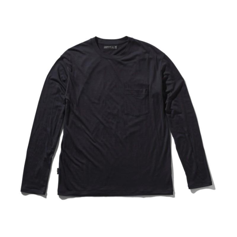 アウトドアシャツ icebreaker テック ライト ロングスリーブ ポケット クルー Men's S DM(ディープミッドナイト)