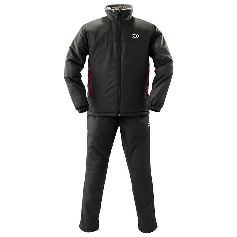 フィッシングウェア ダイワ DI-52009 ウォームアップスーツ L ブラック