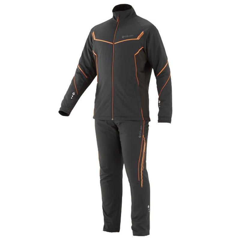 フィッシングウェア がまかつ トレーニングウォームスーツ GM-3613 3L ブラック×オレンジ