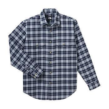 アウトドアシャツ ザ・ノースフェイス NT26728 L/S Basic Shirt XL NY(TNFネイビー)