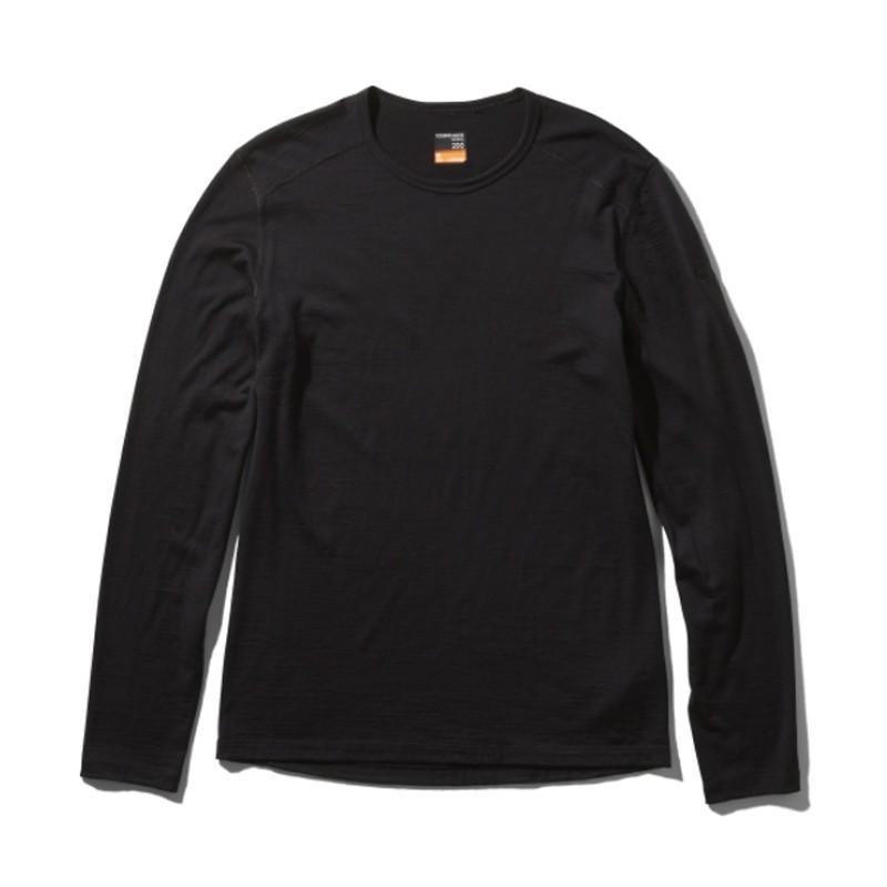 アウトドアシャツ icebreaker M 200 OASIS LS CREWE(200 オアシス ロングスリーブ クルー) M K(ブラック)