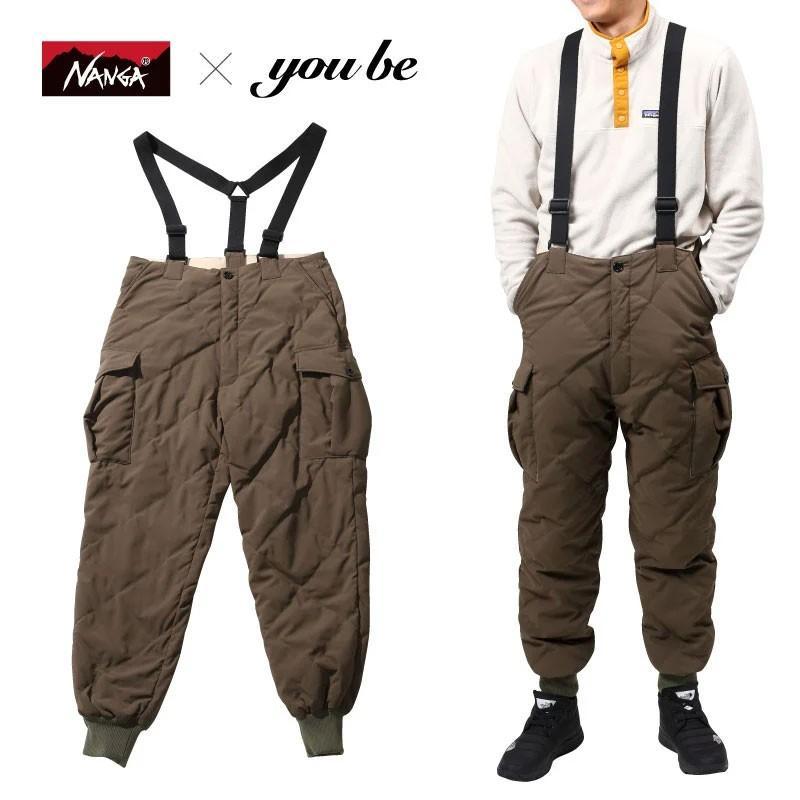 アウトドアパンツ ナンガ 【 NANGA×you beコラボ企画】DOWN CARGO PANTS(ダウン カーゴ パンツ) M KHAKI(カーキ)
