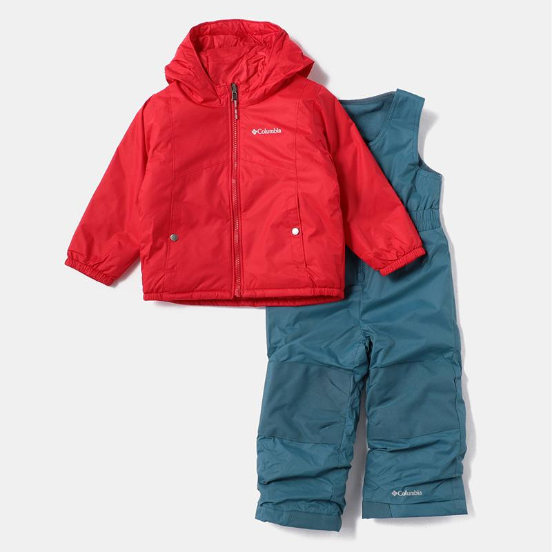 アウトドアウェア コロンビア DOUBLE FLAKE SET(ダブル フレーク セット) kid's XXS 615(Mountain Red)