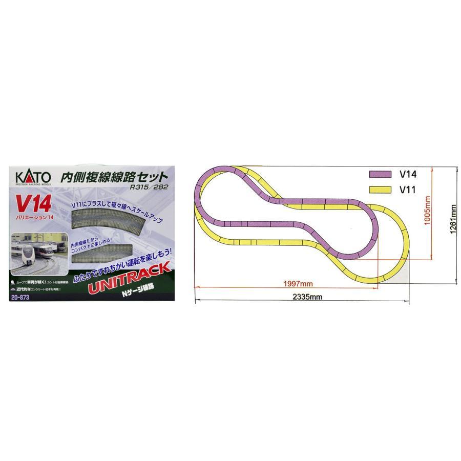 KATO Nゲージ 鉄道模型 V14 内側複線線路セット(R315/282) 20-873