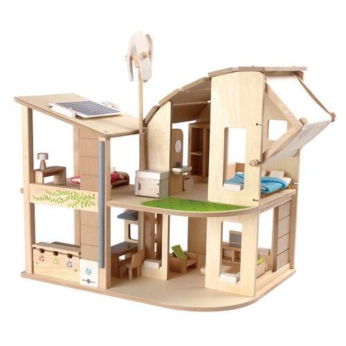プラントイ PLANTOYS 家具付きグリーンドールハウス 7156 木のおもちゃ 知育玩具 ドールハウス 家具 おうち ごっこあそび ままごと ギフト 木製玩具|navi-p-com-online|02