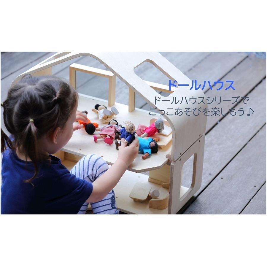 プラントイ PLANTOYS 家具付きグリーンドールハウス 7156 木のおもちゃ 知育玩具 ドールハウス 家具 おうち ごっこあそび ままごと ギフト 木製玩具|navi-p-com-online|07