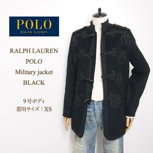 Ralph Lauren Polo Women's Napoleon Jacket Design Coat / Black POLO by Ralph Lauren