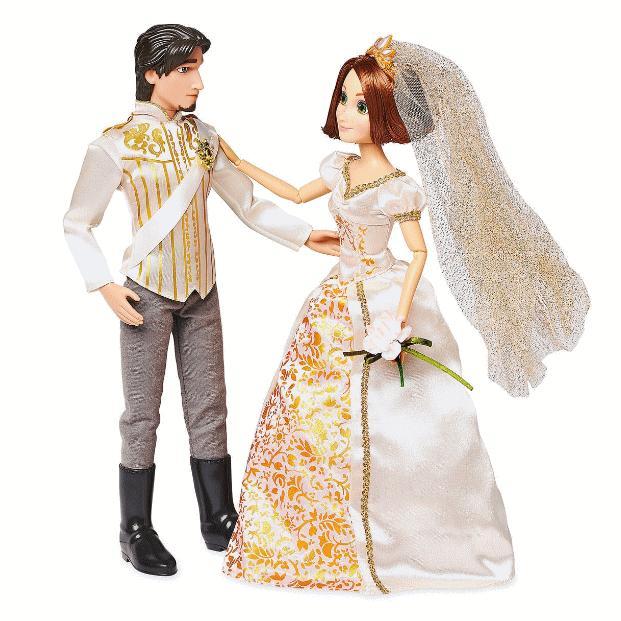 US版 ディズニー ラプンツェル&フリン・ライダー クラシック ドール ウェデイングセット(人形・ディズニープリンセス・ユージーン・結婚式)