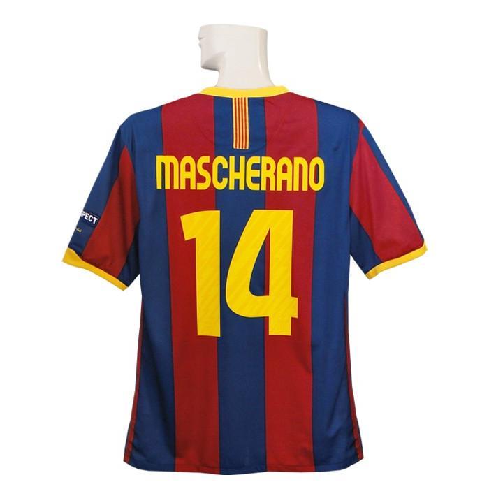 ***限定再入荷****(ナイキ) NIKE/10/11バルセロナ/CL/ホーム/半袖/マスチェラーノ/決勝マッチディテール付/382354-486-CL-MAS