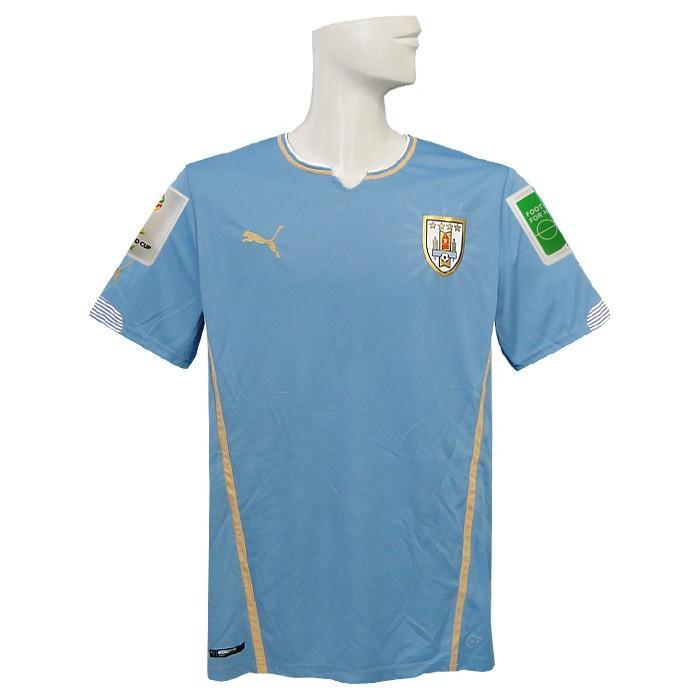 (プーマ) PUMA/2014ウルグアイ代表/ホーム/半袖/2014FIFAワールドカップ/スリーブバッジ+FIFA FOOTBALL FOR HOPEバッジ付/744322-01
