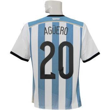 (アディダス) adidas/14/15アルゼンチン代表/ホーム/半袖/アグエロ/準決勝マッチデー+W杯バッジ付/AI216-G74569