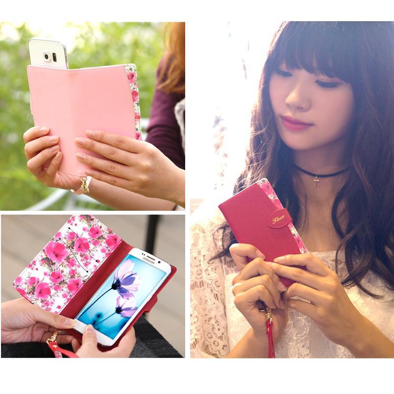 スマホケース 手帳型 多機種対応 マルチタイプ Xperia エクスペリア Galaxy ギャラクシー aquos アクオス iphone アイフォン fleur ndos 13