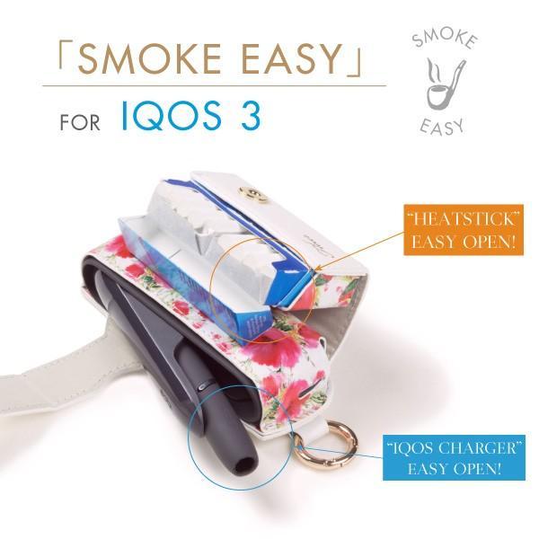 iqos3 duo ケース アイコス3 デュオ ケース 新型 カバー ブランド iqos3duo レザー 電子たばこ SMOKE EASY FLEUR|ndos|03