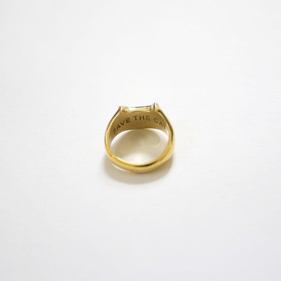 CAT SIGNET RING 真鍮キャットシグネットリング【kura】|neco-republic|05