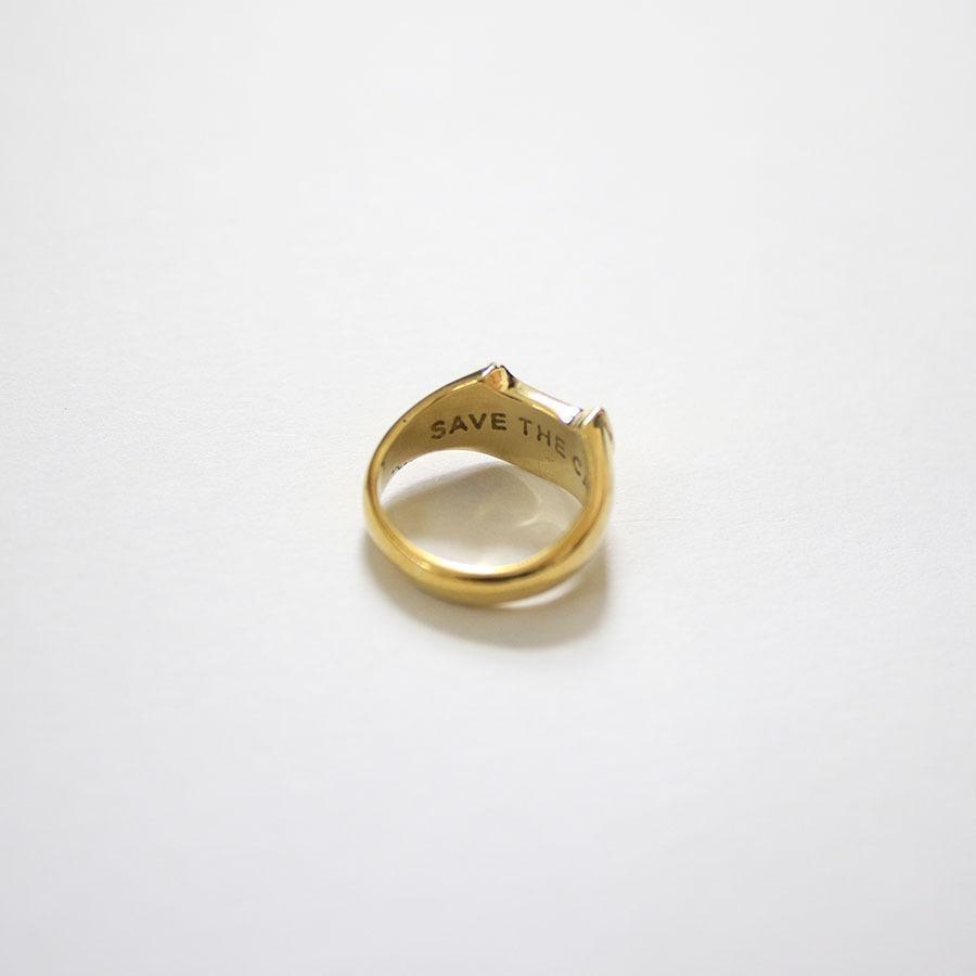 CAT SIGNET RING 真鍮キャットシグネットリング【kura】|neco-republic|06