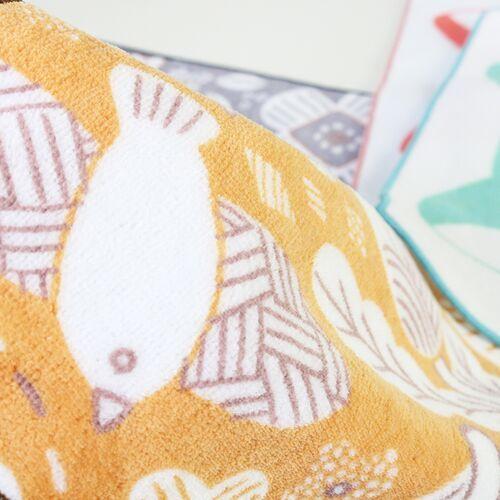 ハンカチ MARTTA  タオルハンカチ Garden オレンジ花 母の日 2021 プレゼント ギフト おしゃれ かわいい|neco|02