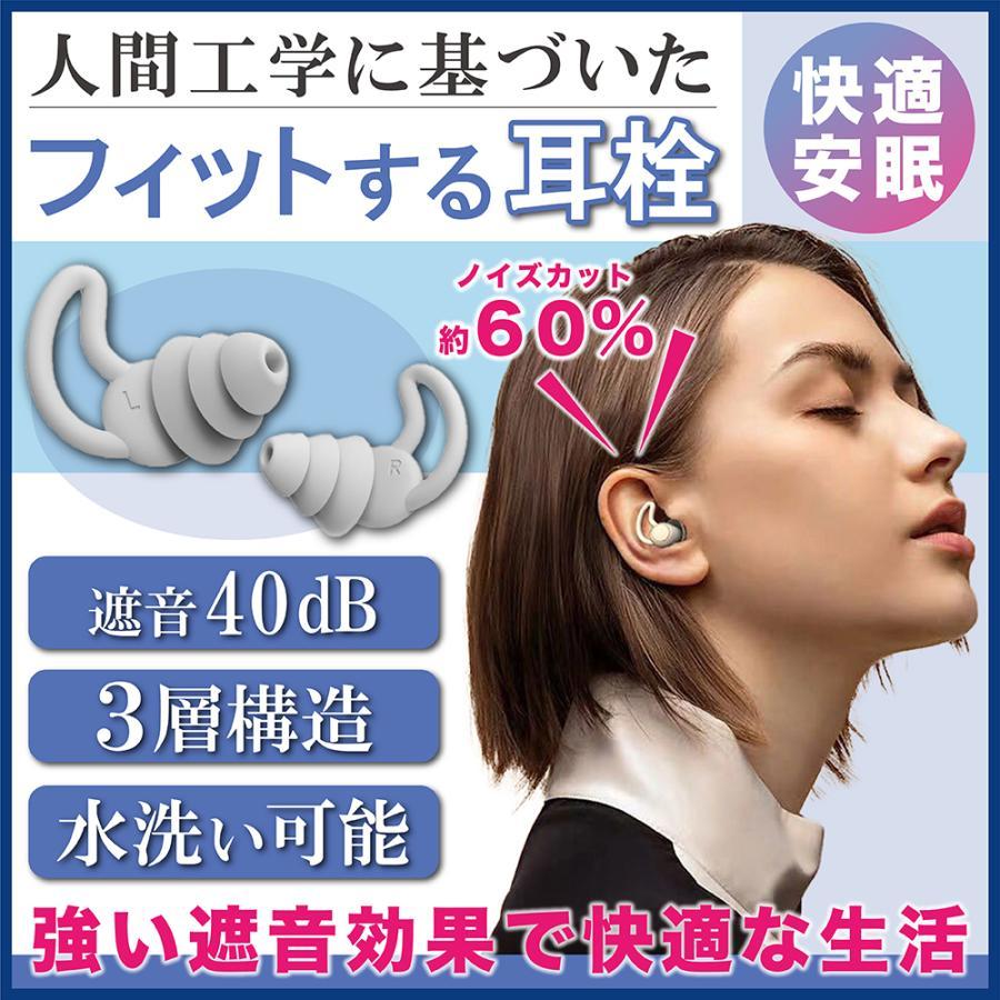 耳栓 最強 騒音 高性能 海外輸入 睡眠用 睡眠 遮音性高い シリコン 遮音 いびき ノイズカット 快眠 防音 ショッピング 勉強 水洗い