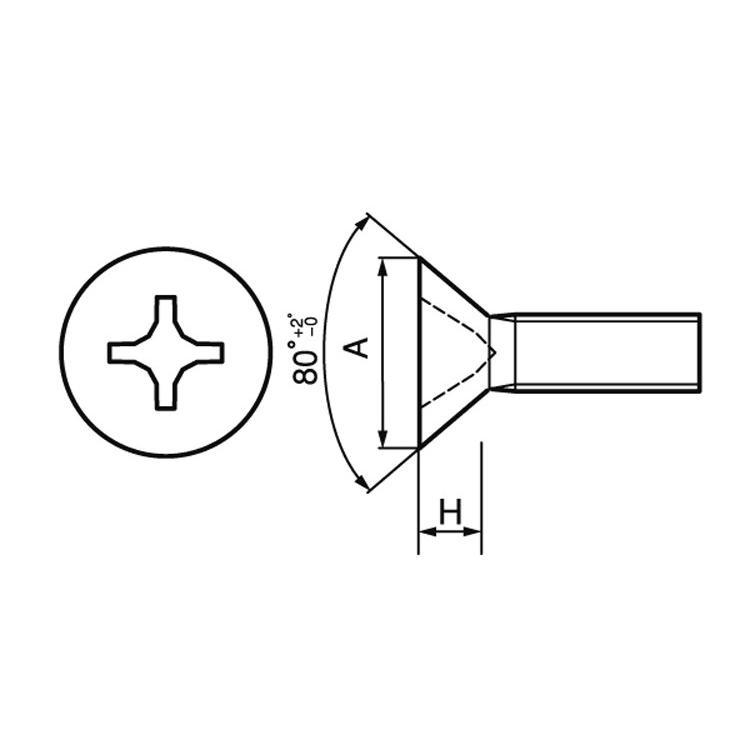 (+)UNC(FLAT#2-56X5/16 ステンレス 生地 【5000本】|nejikuru|03