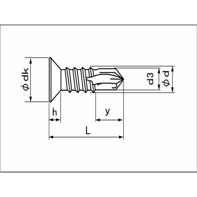ステンレス ドリルビス D=8 特皿 ピアスビス M5x19mm (10本単位 バラ売り) 小皿 小頭 ステン SUS サラ ドリルねじ テックス テクス|nejisugu|02