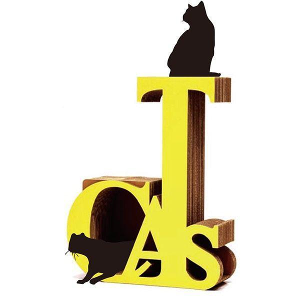 ニャンダフル・キャットタワー 「CATS」 据え置き型 / 猫用 キャットタワー ECOでおしゃれなデザインの高品質 日本製 ダンボール製 nekodan