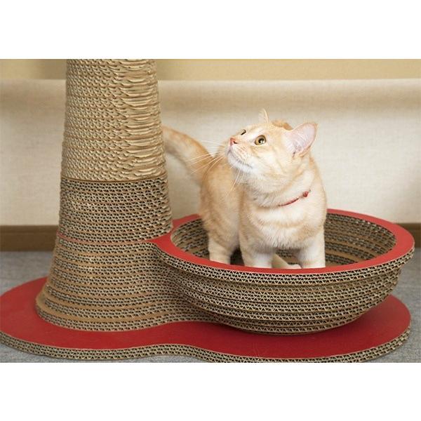 ニャンダフル・爪とぎ 「ポール&ボウル」 / 猫用 ファニチャー 爪とぎ ECOでおしゃれなデザインのこだわり品 日本製ダンボール|nekodan|02