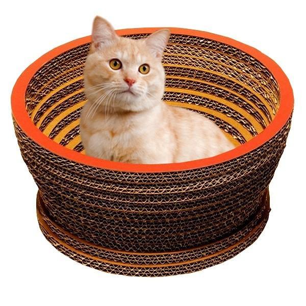 ニャンダフル・キャットハウス 「ボウル」 / 猫用 ファニチャー キャットハウス ECOでおしゃれなデザインの日本製 ダンボール nekodan
