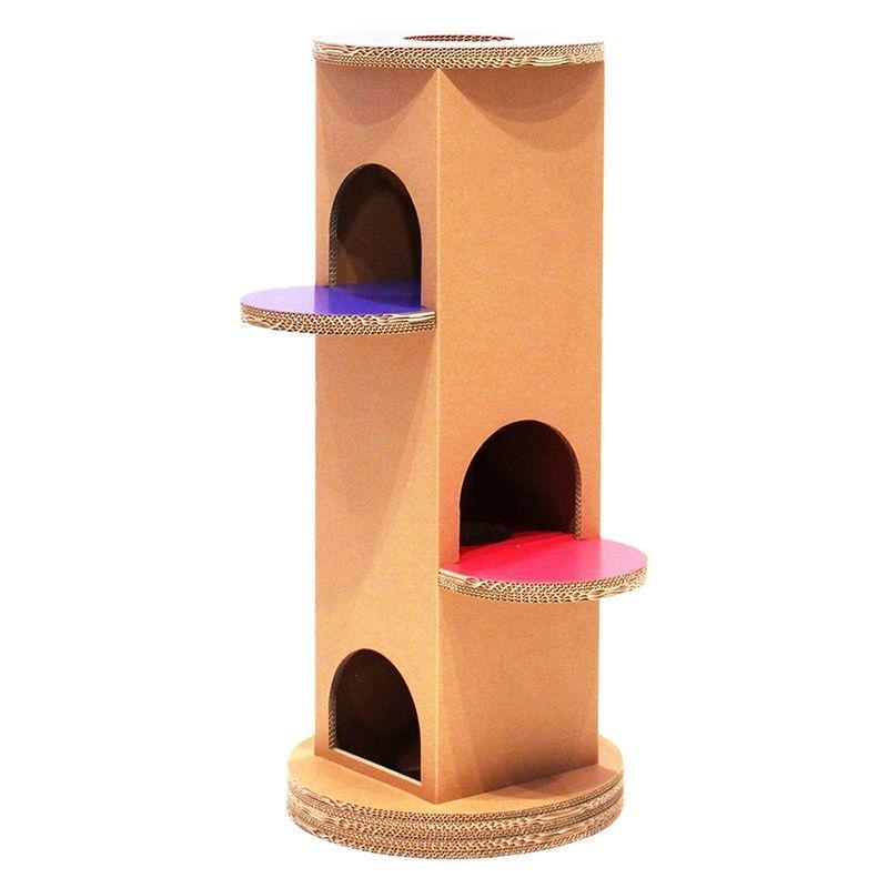 ニャンダフル・キャットタワー 「ベーシック」 据え置き型 / 猫用 キャットタワー ECOでおしゃれなデザイン 日本製ダンボール|nekodan|02