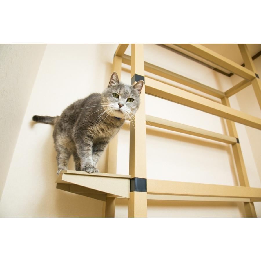 サイドステップ ニャンダフルシェルフ オプション品 / 猫用 ECO おしゃれデザイン 日本製|nekodan|04
