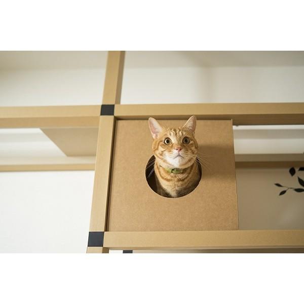 ニャンダフルシェルフ / 猫用 突っ張り型キャットタワー ECO おしゃれデザイン 日本製 ダンボール製|nekodan|04