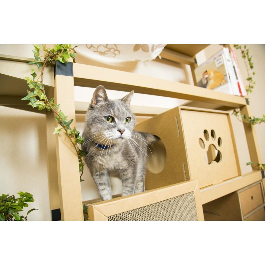 ニャンダフルシェルフ mini / 猫用 突っ張り型キャットタワー ECO おしゃれデザイン 日本製 ダンボール製|nekodan|02