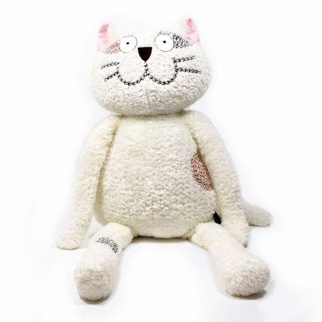 くたくた猫 ぬいぐるみ L ホワイト マンハッタナーズ Manhattaner's 猫グッズ 猫雑貨 猫 ねこ ネコ