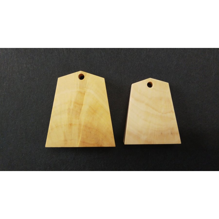 駒木地 サツマ黄楊 根付用2個セット 品質保証 ショップ 自作 駒製作