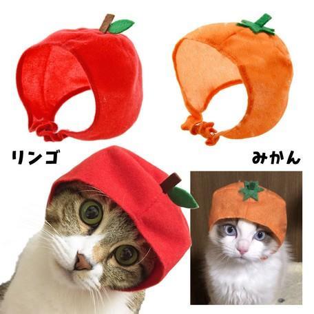 猫ちゃん専用かぶりもの フルーツ・りんご|nekote-shop|06
