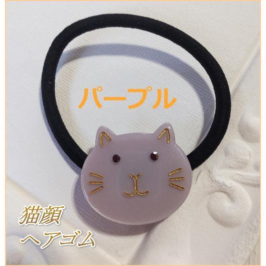 猫雑貨 ヘアアクセサリー 猫顔ヘアゴム|nekote-shop|06