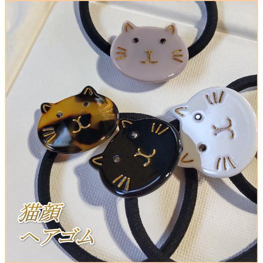 猫雑貨 ヘアアクセサリー 猫顔ヘアゴム|nekote-shop|09